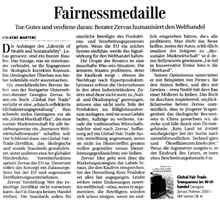 Financial Times - Fairnessmedaille
